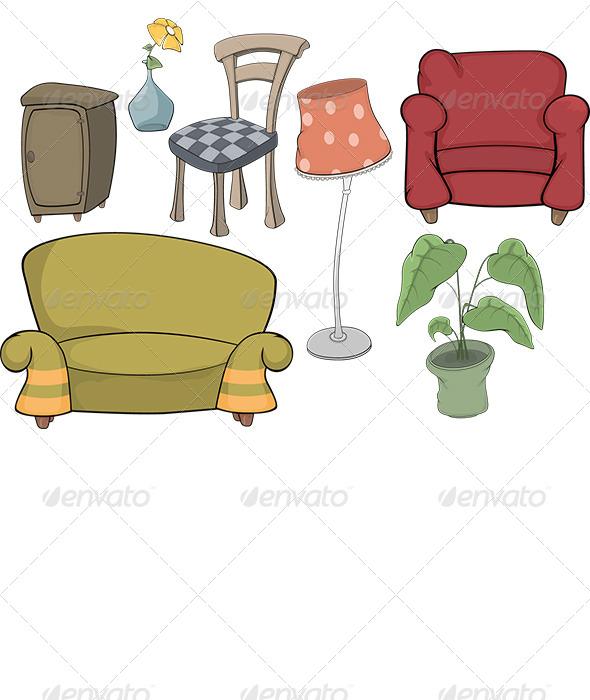 GraphicRiver Set of Furniture 6908349