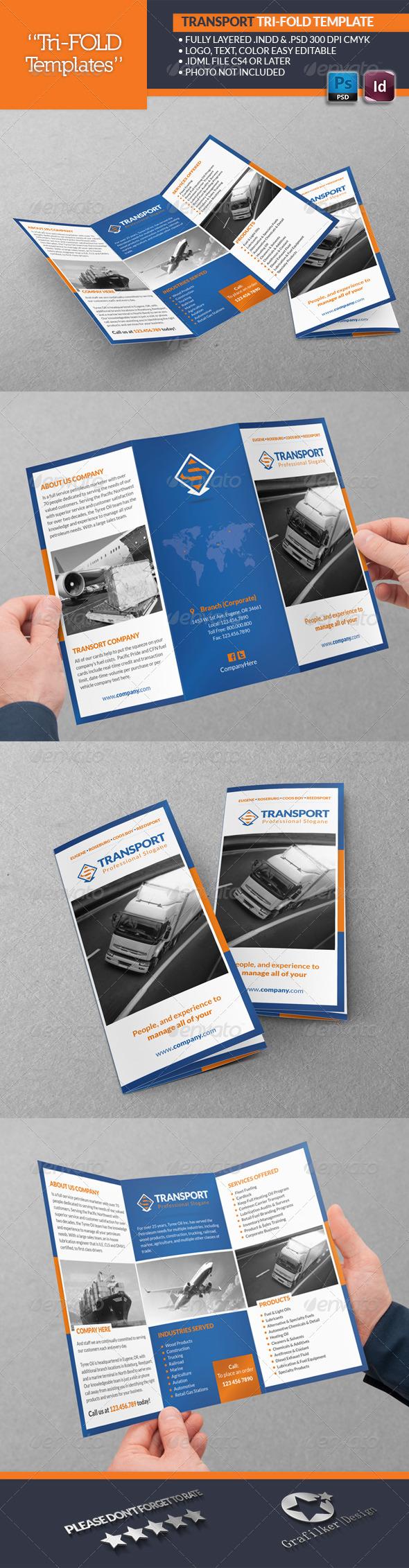 GraphicRiver Transport Tri-Fold Templates 6908612