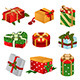 Different Designs of Christmas Present Boxes - GraphicRiver Item for Sale
