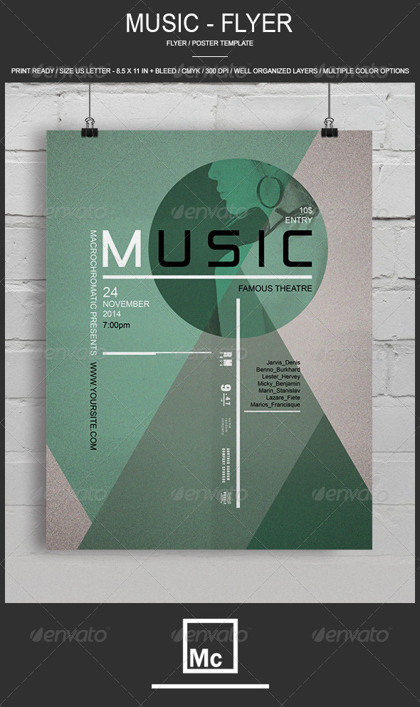 GraphicRiver Music Flyer Poster 6908619