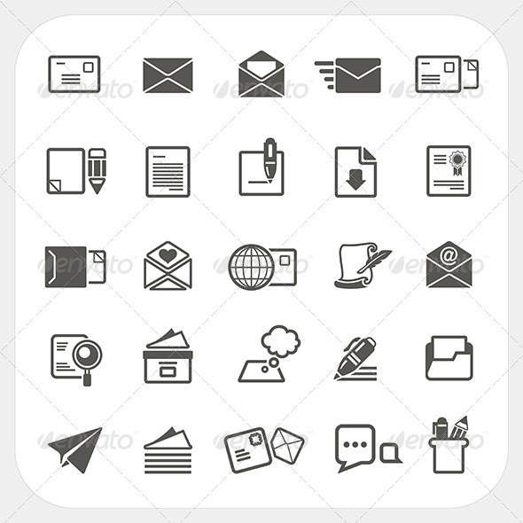 GraphicRiver Mail Icons Set 6908658