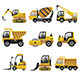 Big Construction Vehicles Icons - GraphicRiver Item for Sale