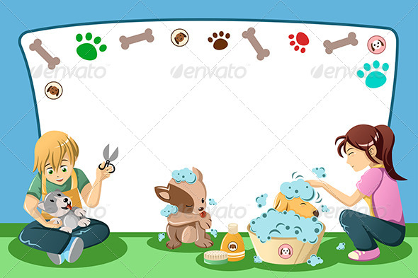 GraphicRiver Pets Grooming Advertisement 6909612
