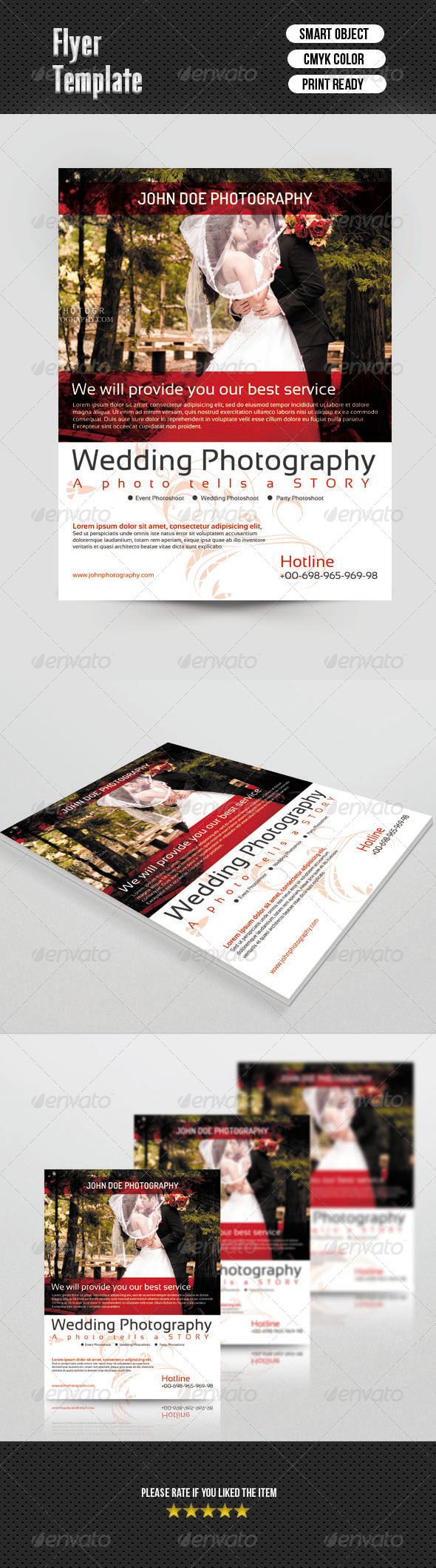 GraphicRiver Flyer for Wedding Photographer 6891538