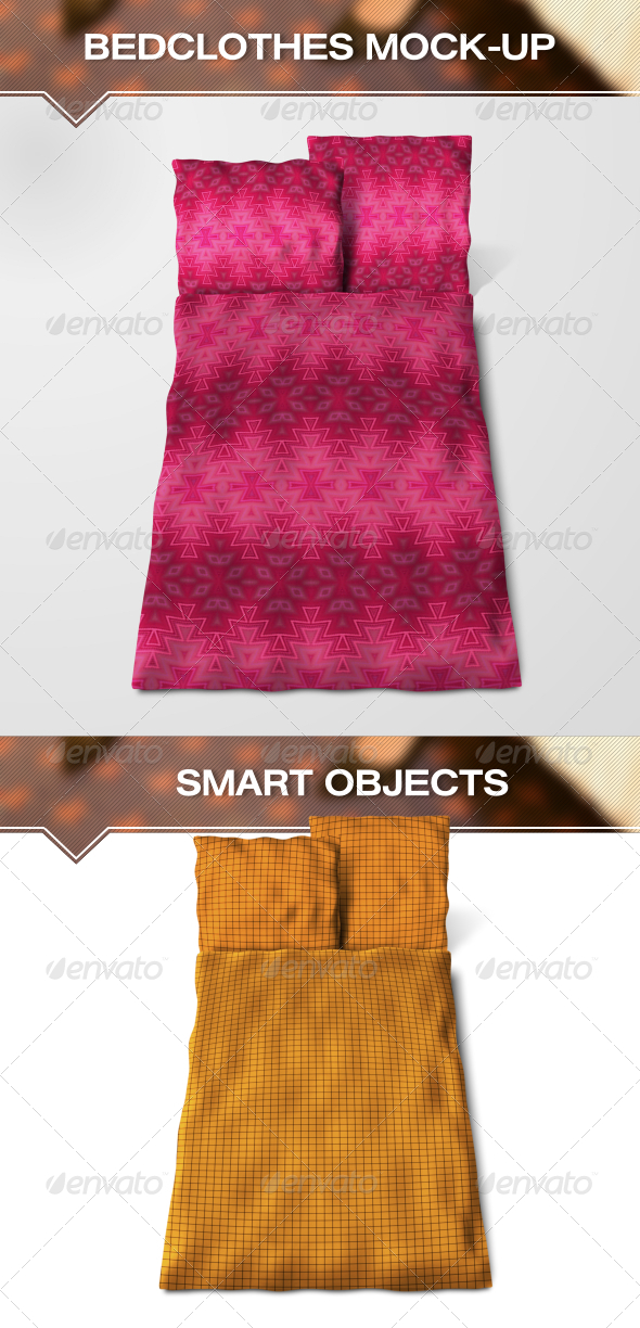 GraphicRiver Bedclothes Mock-Up 6911029