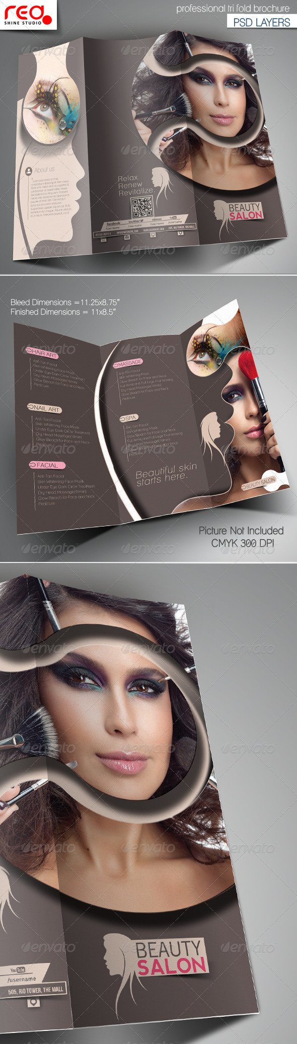 GraphicRiver Beauty Salon Promotion Trifold Brochure Template 6911268