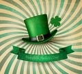 Saint Patrick's Day card with clove leaf and green hat. - PhotoDune Item for Sale