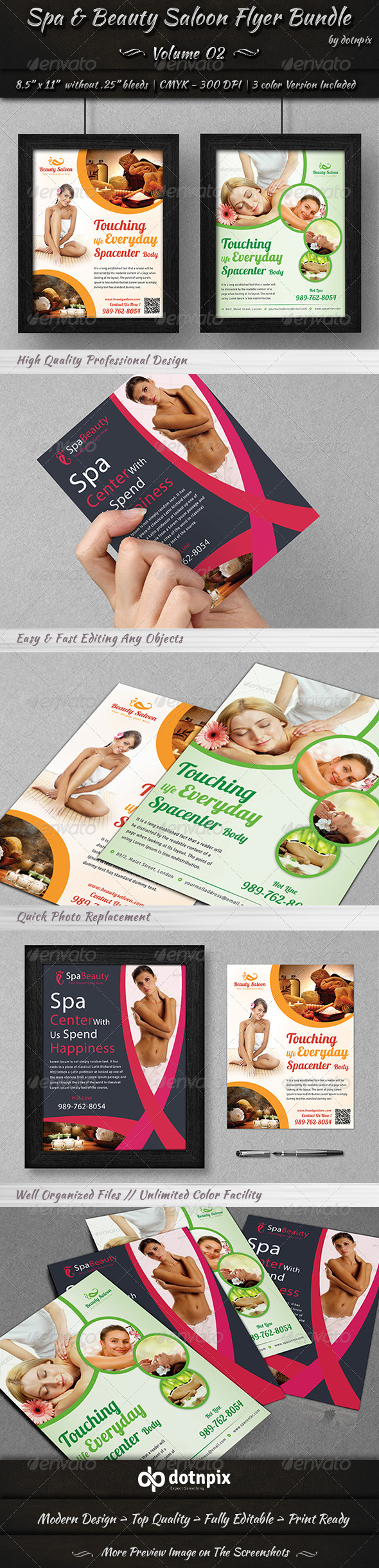 GraphicRiver Spa & Beauty Saloon Flyer Bundle Volume 2 6911848