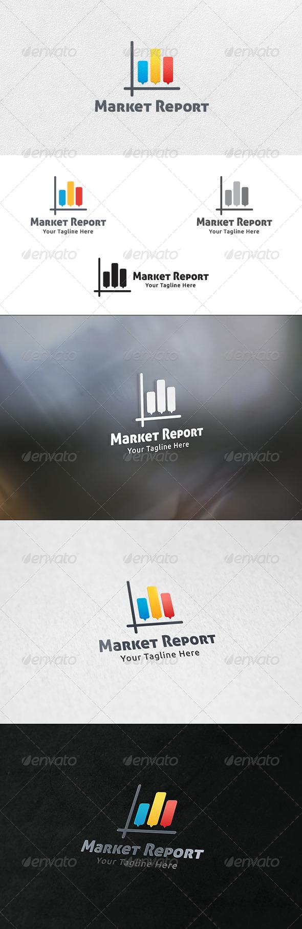 GraphicRiver Market Report Logo Template 6911919