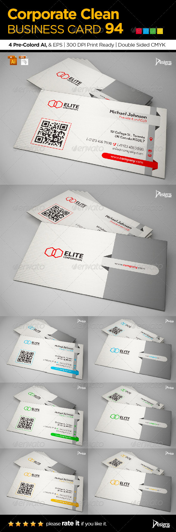 GraphicRiver Corporate Clean Business Card 94 6912671