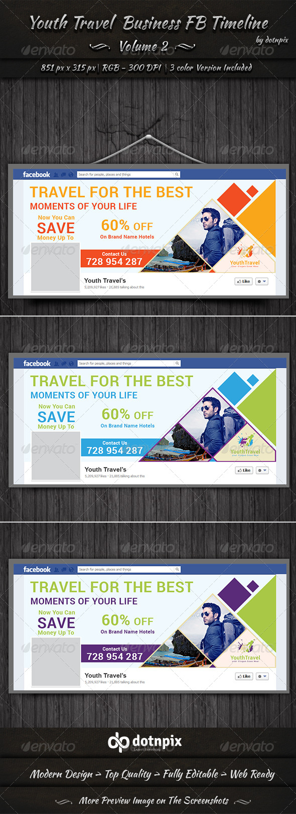 GraphicRiver Youth Travel Business FB Timeline Volume 2 6912774