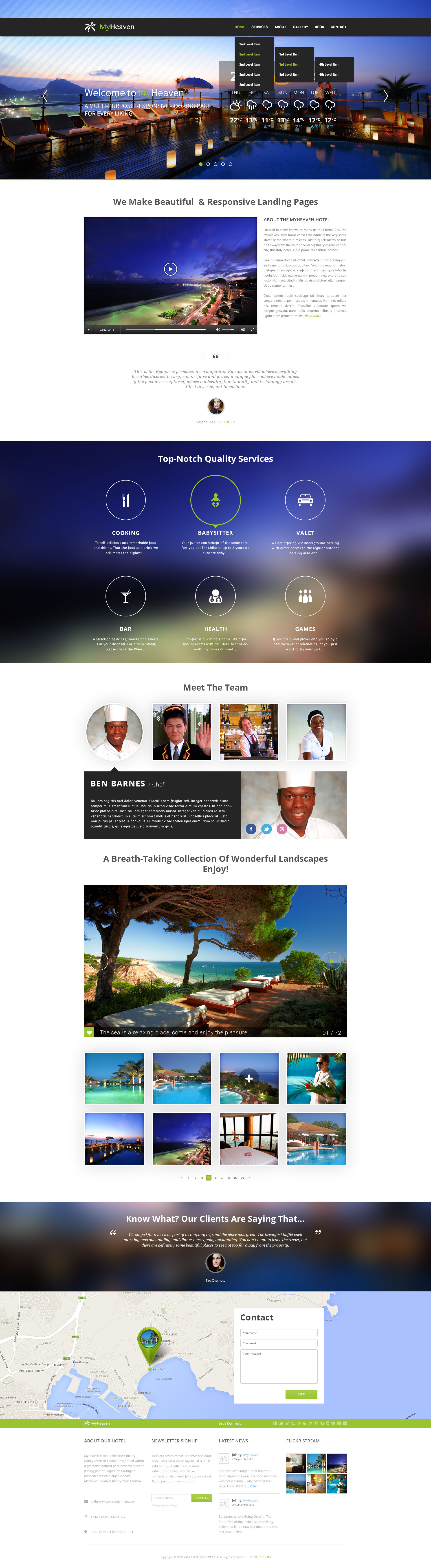 My Heaven - Online Booking PSD Template - Desktop - Home Page