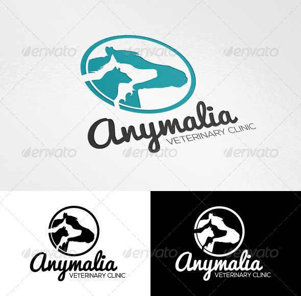 GraphicRiver Pets Veterinary Clinic Logo Template 6912897