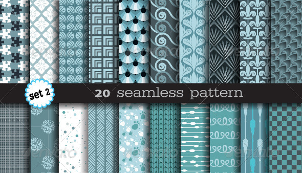 GraphicRiver 20 Seamless Pattern Set 2 6913052