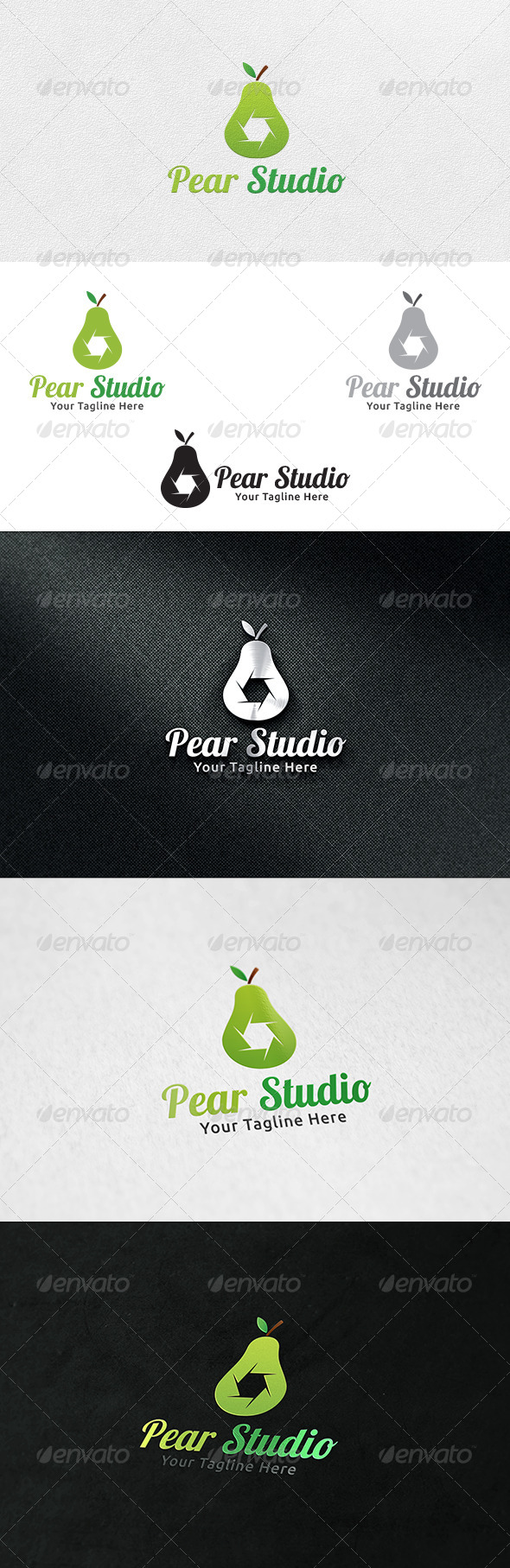 GraphicRiver Pear Studio Logo Template 6913195