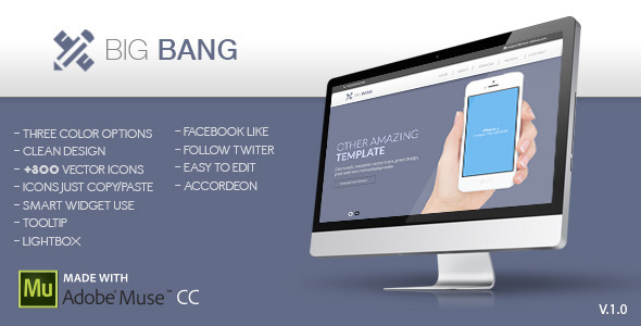 Big Bang Muse Template - Corporate Muse Templates