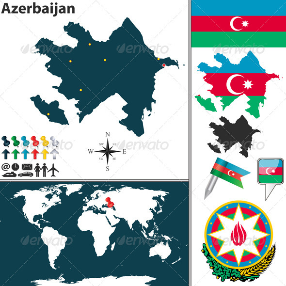 GraphicRiver Map of Azerbaijan 6913405