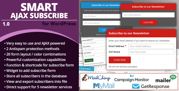 CodeCanyon Smart AJAX Subscribe 6913436