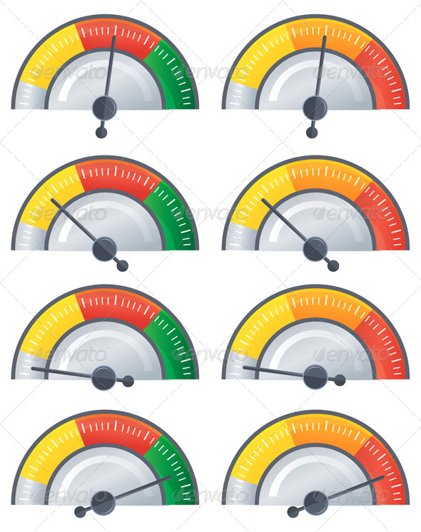 GraphicRiver Performance Meter Illustration 6913446