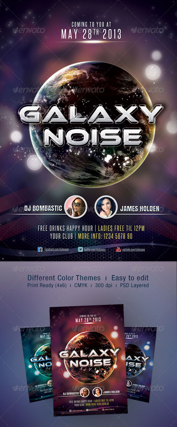 Galaxy Noise Flyer - Clubs & Parties Events