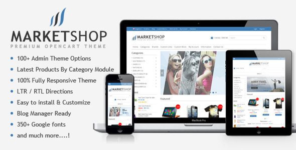 ThemeForest MarketShop Multi-Purpose Premium OpenCart Theme 6913803