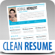 TheOne Clean Resume Set Vol. 1 - GraphicRiver Item for Sale