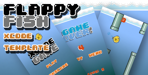 CodeCanyon Flappy Fish Sprite Kit Game Center and iAd 6898423