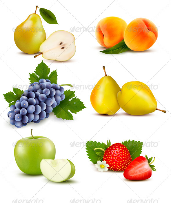GraphicRiver Big Group of Different Fruit 6914670