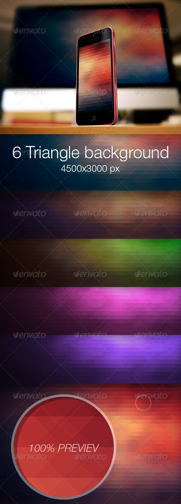 GraphicRiver Triangle colored background vol.1 6915346
