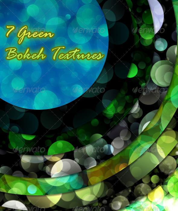 GraphicRiver 7 Green Bokeh Textures 6915623