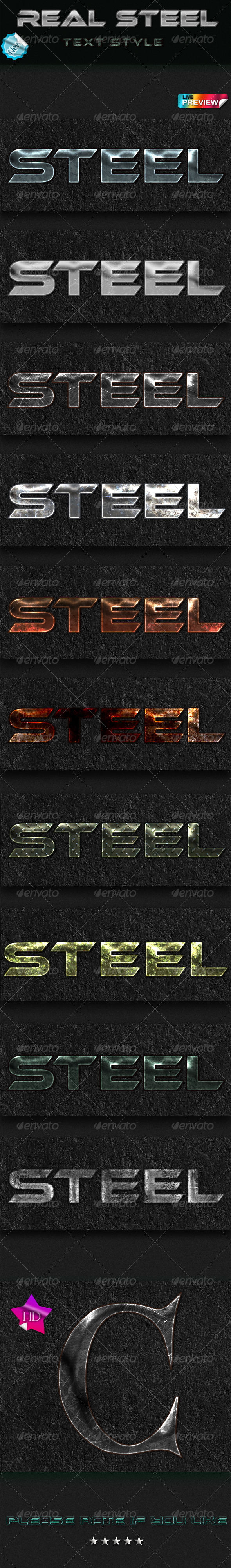 GraphicRiver Real Steel Text Style 6915844
