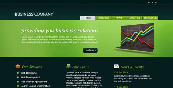 ThemeForest Business Company PSD Template 28856