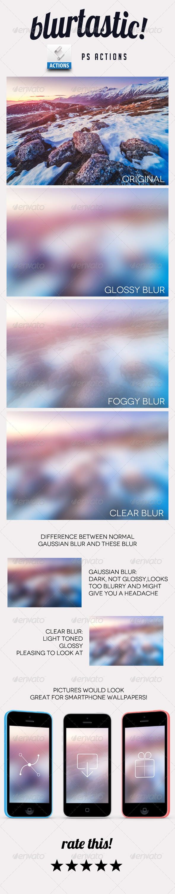 GraphicRiver Blurtastic Photoshop Actions 6916158