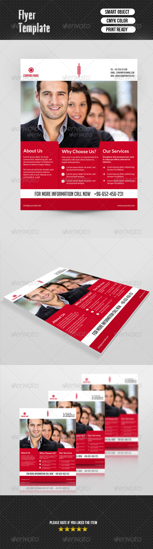 GraphicRiver Corporate Flyer Template 6916221