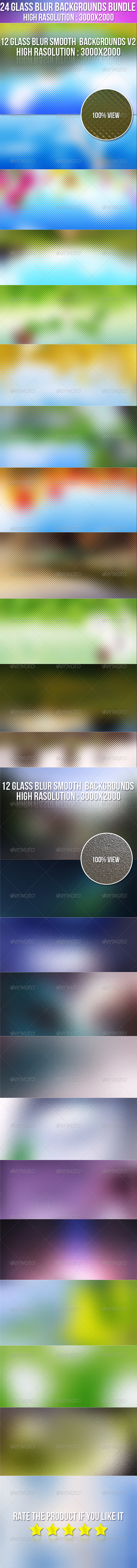 GraphicRiver 24 Glass Smooth Blur Background Bundle 6916566