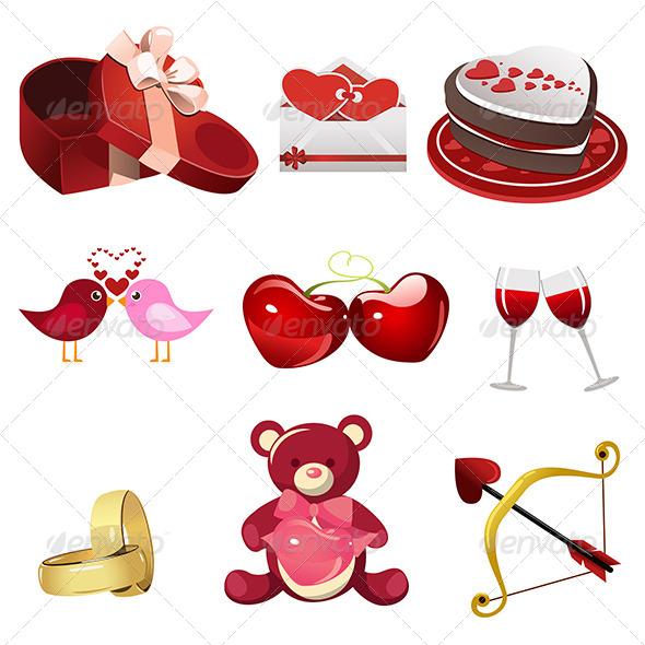GraphicRiver Valentine Icons 6916584