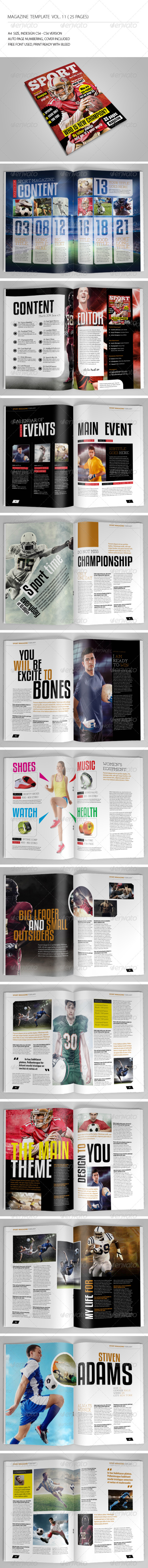 GraphicRiver 25 Pages Sport Magazine Vol11 6910766