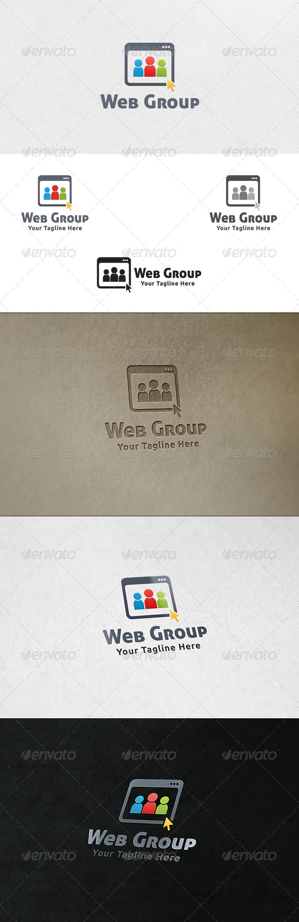 GraphicRiver Social Web Group Logo Template 6917421