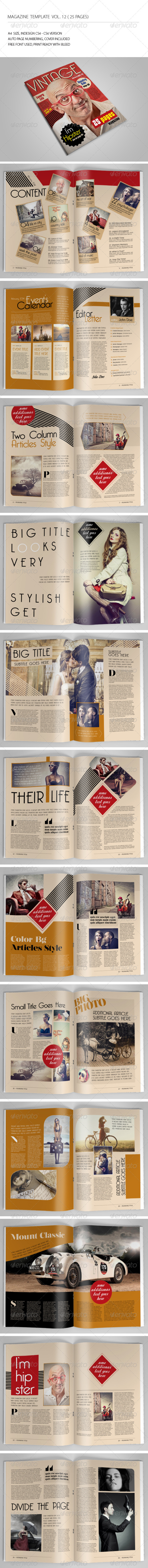 GraphicRiver 25 Pages Vintage Magazine Vol12 6917452
