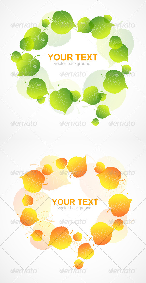GraphicRiver Leaf Frame 6918768