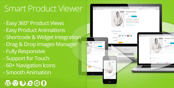 Description Smart Product Viewer is a 360º viewer and product animation plugin for any WordPress e-Commerce site that help customers see even more d