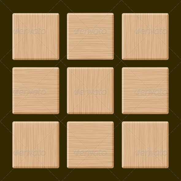 GraphicRiver Set of Blank Wood Boxes 6921506