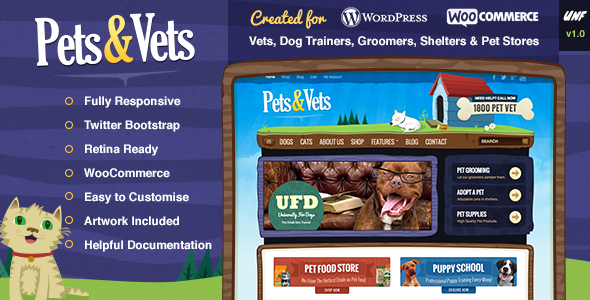 ThemeForest Pets & Vets WordPress & WooCommerce 6890129