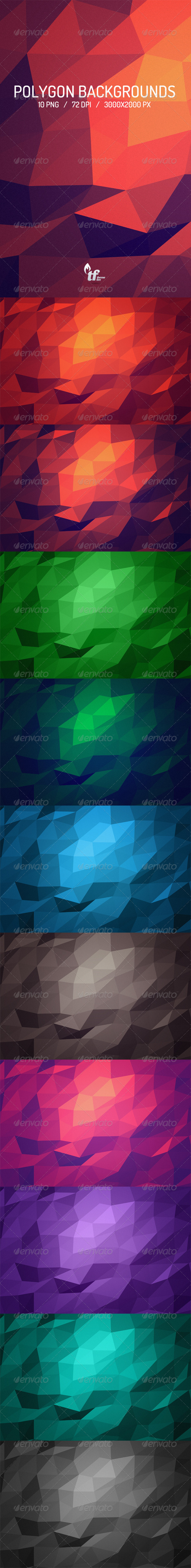 GraphicRiver Polygon Backgrounds 6922873