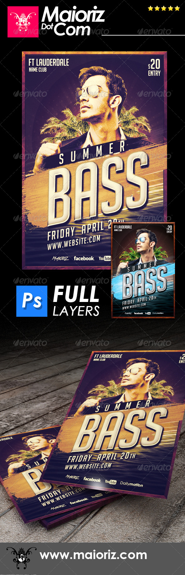 GraphicRiver Summer Bass Flyer 6923154