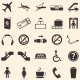 Vector Set of 25 Airport Icons - GraphicRiver Item for Sale