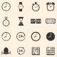 Vector Set of 16 Time Icons - GraphicRiver Item for Sale