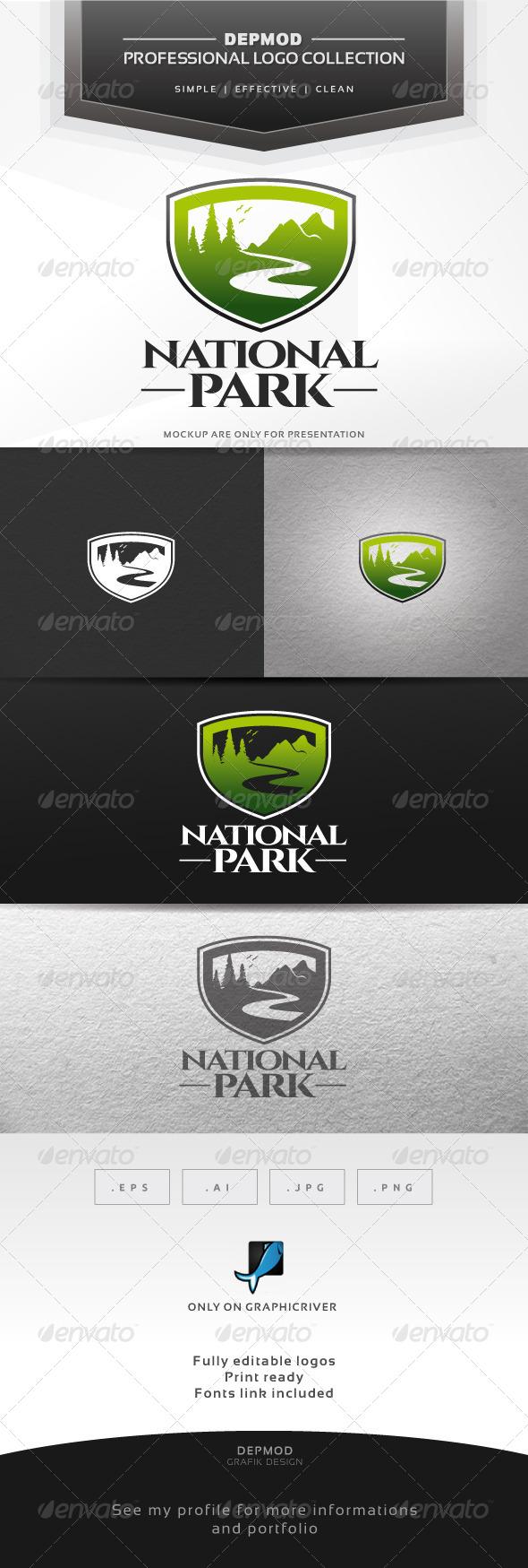GraphicRiver National Park Logo 6924634