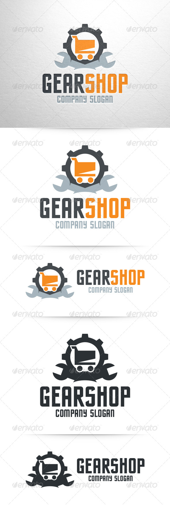 GraphicRiver Gear Shop Logo Template 6925342