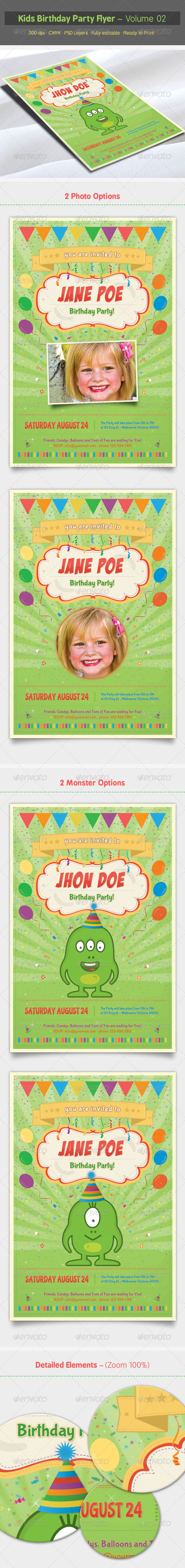 GraphicRiver Kids Birthday Party Flyer Volume 02 6895576